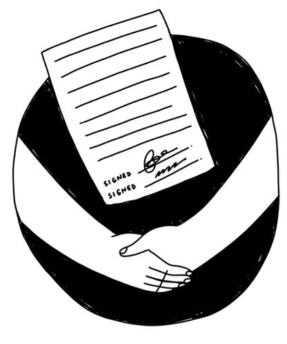 image of an agreement in writing